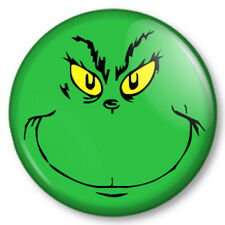 "The Grinch that stole Christmas 25mm 1"" Pin Button Badge Dr Seuss Xmas Cute Face"