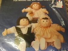 """Vtg 80s NEW Baby Skin 16-17"""" Soft Sculpture Baby Pre Printed Fabric For One Doll"""