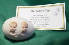 ADORABLE PORCELAIN TWIN BABY BIRTHING EGG MIDWIVES DOULA GREAT FOR NEW MOMS