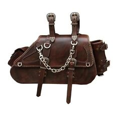 Luggage Saddlebag Genuine leather Motorcycle Accessory Vintage HD Softail
