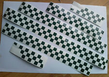 Vespa checkered vinyl stickers kit PX LML T5 chequered squares MODS checks scoot