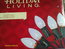 Holiday Living C9 Christmas Light strand - Clear (25 count)