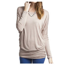 Fashion Women's Loose Long Sleeve Batwing Dolman Tunic Blouse Top T-Shirt Plus