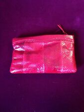 Clemente Snakeskin Clutch Red