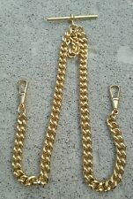 Gold Plated Double Albert Pocket Watch Chain. 45 grams 9ct gold plated