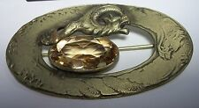 George Nathaniel Steere Dragon Sash Brooch Pin GNS&Co 1906-1911 Art Nouveau