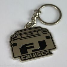 TOYOTA FJ CRUISER KEYRING CHROME METAL SINGLE SIDED