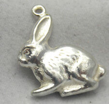 3D STERLING SILVER RABBIT CHARM