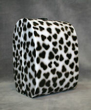 NEW TIMMY WOODS BEVERLY HILLS SNOW LEOPARD ANIMAL PRINT WOOD BAG