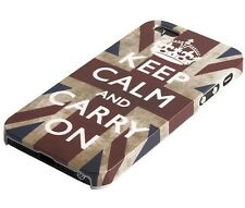 Schutzhülle f iPhone SE 5 5S Tasche Case Cover England GB UK Keep Calm carry on