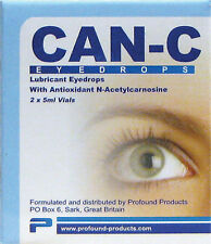 Can-C Eye Drops 2 x 5ml Vials Lubricant Antioxidant N-Acetylcarnosine Brand New