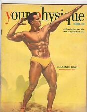 YOUR PHYSIQUE bodybuilding muscle magazine/Clarence Ross 10-50