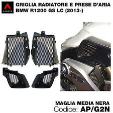 Kit 4 griglie per prese d'aria e radiatore BMW R GS 1200 LC 2014   nere
