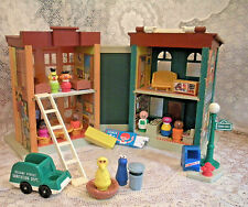 Vintage 70's Fisher Price Little People Play Family Sesame Street #938  COMPLETE