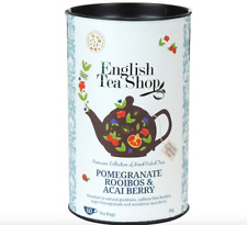 English Tea Shop Pomegranate Rooibos & Acai Berry Tea Bags 60 Count Sealed