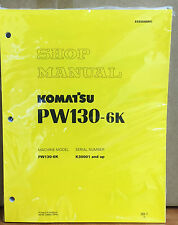 Komatsu Service PW130-6K Excavator Shop Manual NEW REPAIR