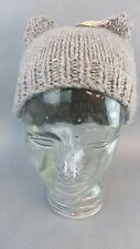 NWT New Adorable Grey Cat Hat Beanie Cap Knit