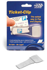 Travel Spot TICKET CLIP Car Van Windscreen Parking Ticket Work Pass Badge Holder