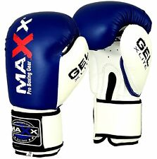 Maxx MAYA Leather Boxing Gloves Fight Punch Bag MMA Muay thai Gloves Pad Gloves