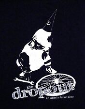 The Dropout An Austin Texas TX Bike Zone Park Dunce Cap Biking T Shirt M