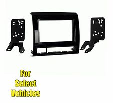 Charcoal Double Din Car Stereo Radio Dash Install Mount Kit for 2012-15 Tacoma
