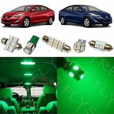 8xGreen LED light interior package kit for 2011-2015 Hyundai Elantra YE1G