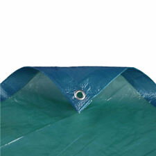 Waterproof Tarp Tarpaulin Ground Sheet Cover in Blue Green Dual Colour 4ft x 6ft