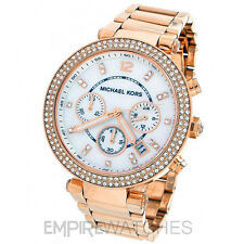 *NEW* MICHAEL KORS LADIES PARKER ROSE GOLD CHRONOGRAPH WATCH - MK5491 - RRP £229