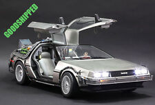 READY HOT TOYS 1985 BACK TO THE FUTURE DELOREAN TIME MACHINE CAR 1/6 720MM NEW