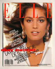 ELLE FRANCE 1987. Cindy Crawford, Liz Taylor VOGUE Models Bazaar