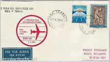 60191  - STORIA POSTALE - AVIAZIONE: Volo FIRST FLIGHT COVER #538 AE  ROME  WIEN