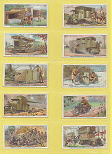 MILITARY  -  WILLS  -  SCARCE SET  OF  50  MILITARY  MOTORS  CARDS  -  1916