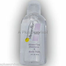 3 Bottles Dawn Mist 2 oz Rinse Free Shampoo Body Wash