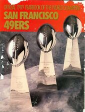 1989 San Francisco 49ers Yearbook Super Bowl Trophies