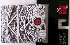 MENS 2MONKEYS FLOWER EYE SKULL BIFOLD WALLET
