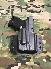 Black Police Raptor Kydex Holster Glock 26/27 Streamlight TLR-6