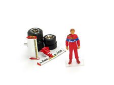 Pironi Driver Figure + Wing + Tires Set Diorama Accessory 1:43 Model BRUMM