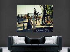 BMX BIKE RAMPS SKATE CLASSIC  HUGE WALL GIANT POSTER