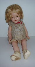 """16"""" VINTAGE 1930'S COMPOSITION IDEAL SHIRLEY TEMPLE DOLL COP N&T"""