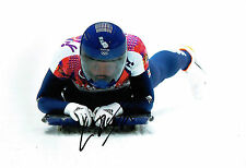 Elizabeth Lizzy YARNOLD Autograph Signed Action Photo AFTAL COA SOCHI Gold Medal