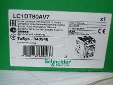 Schneider Electric LC1DT80AV7 Contactor, 4 Pole, 80 Amp, 400V Coil, New
