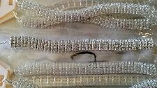 Joblot 12 pcs Diamante Rhinestone Silver Colour Bracelets - New Wholesale lot 1