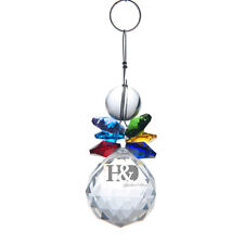 Handmade Colorful Crystal Suncatcher Prisms Pendant FengShui Hanging Drop Gift