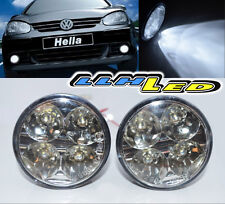 2x 4 LED Round DRL Daytime Running Driving Auto Car Fog Lamps Light Bulb Kit Set