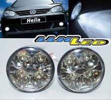 2x 4 LED High Power Round Audi Style Daytime Running Driving Daylight DRL Lights
