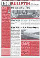 IRB BULLETIN Issue 4 Dec 2002 RUGBY MAG SOS ROMANIA BULGARIA SRI LANKA MALI