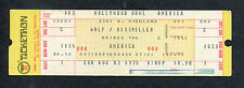 1975 America Unused Concert Ticket Hollywood Bowl Hearts Sister Golden Hair