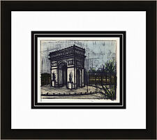 "Sharp Bernard BUFFET 1967 Color Lithograph ""Famous L'Arc De Triomphe"" Framed COA"