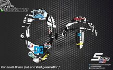 StickyMX graphics for Leatt Brace neck protection stickers Leatt stickers decals