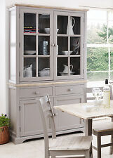 Firenze LARGE GRIGIO Vetrina, vetro Dresser, assemblato di mobili da cucina